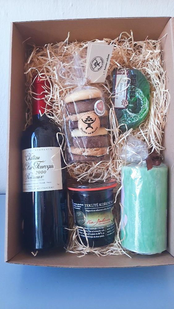 REKSEL sušenky drogerie víno dárkové balíčky